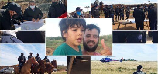 Buscan con helicóptero, perros entrenados y ahora con drones al niño desaparecido en Posadas
