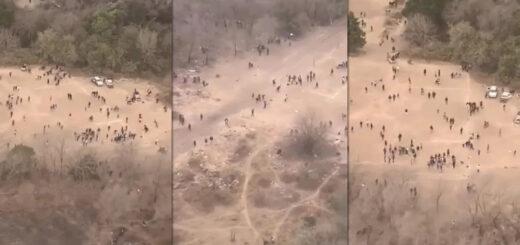 Dispersaron con un helicóptero a más de 100 personas en una carrera de caballos clandestina en Córdoba