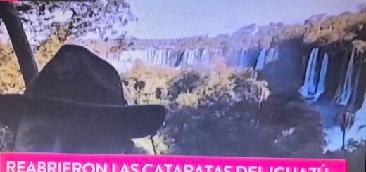 Para deleite de todo el país, la apertura de las Cataratas del Iguazú llegó a la televisión nacional