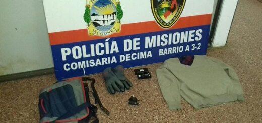 Posadas: detuvieron a dos personas que armados intentaron robar en varios domicilios del barrio Miguel Lanús