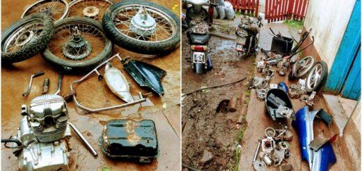 Detuvieron en Posadas a tres ladrones de motos y desbarataron dos desarmaderos