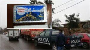 Detienen en Mendoza un camión de Misiones con 27 kilogramos de cocaína