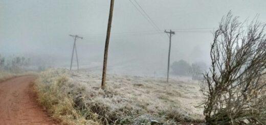 Anticipan heladas para mañana en Misiones con temperaturas que podrían alcanzar los 5° bajo cero