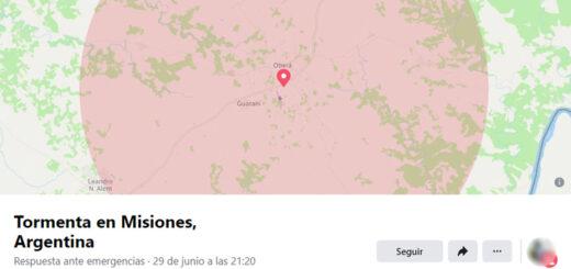 """""""Estoy bien durante la tormenta"""": Facebook habilitó la respuesta ante emergencias por el temporal en Misiones"""