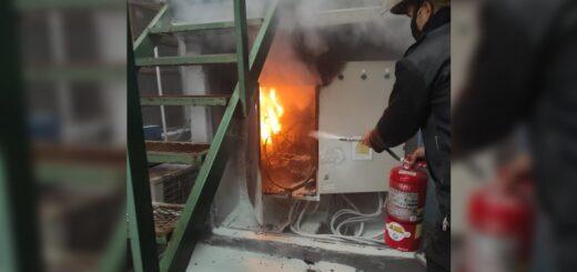 Posadas: se incendió un tablero electrónico en el Instituto Janssen y debieron acudir los bomberos