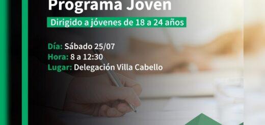 Posadas: inscribirán al programa Jóvenes con Más y Mejor Trabajo en Villa Cabello