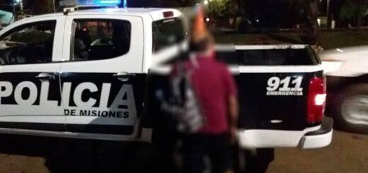"""Posadas: sorprendieron y detuvieron a un """"salta muros"""" cuando intentaba escapar"""