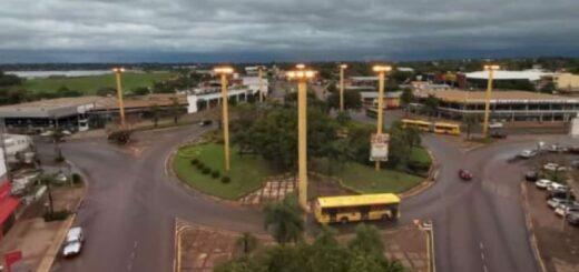 Energía de Misiones reparó el alumbrado de la rotonda en Posadas