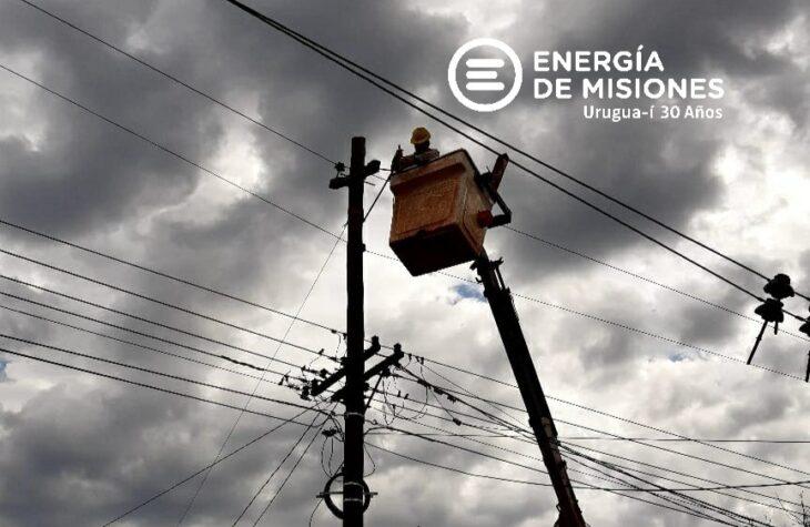 Este martes se producirán cortes programados de luz en El Soberbio, Santa Rita, Aurora y 25 de Mayo