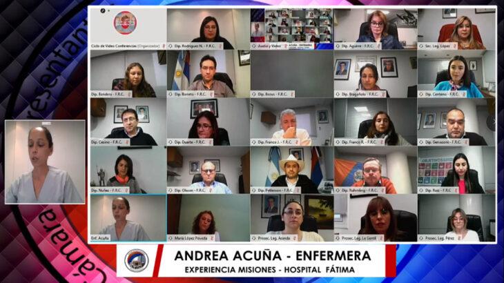 Con las experiencias de la enfermería ante el Covid-19 en Italia, España y Misiones, concluyó el ciclo de videoconferencias de la Legislatura