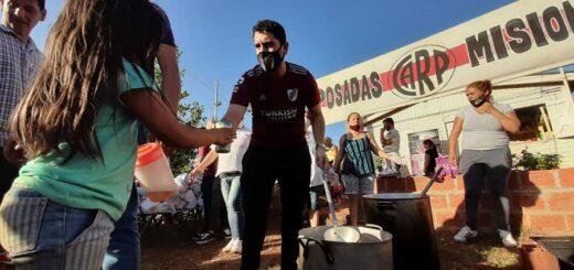 La filial de River Plate de Posadas pide donaciones para entregar a seis familias que sufrieron un incendio