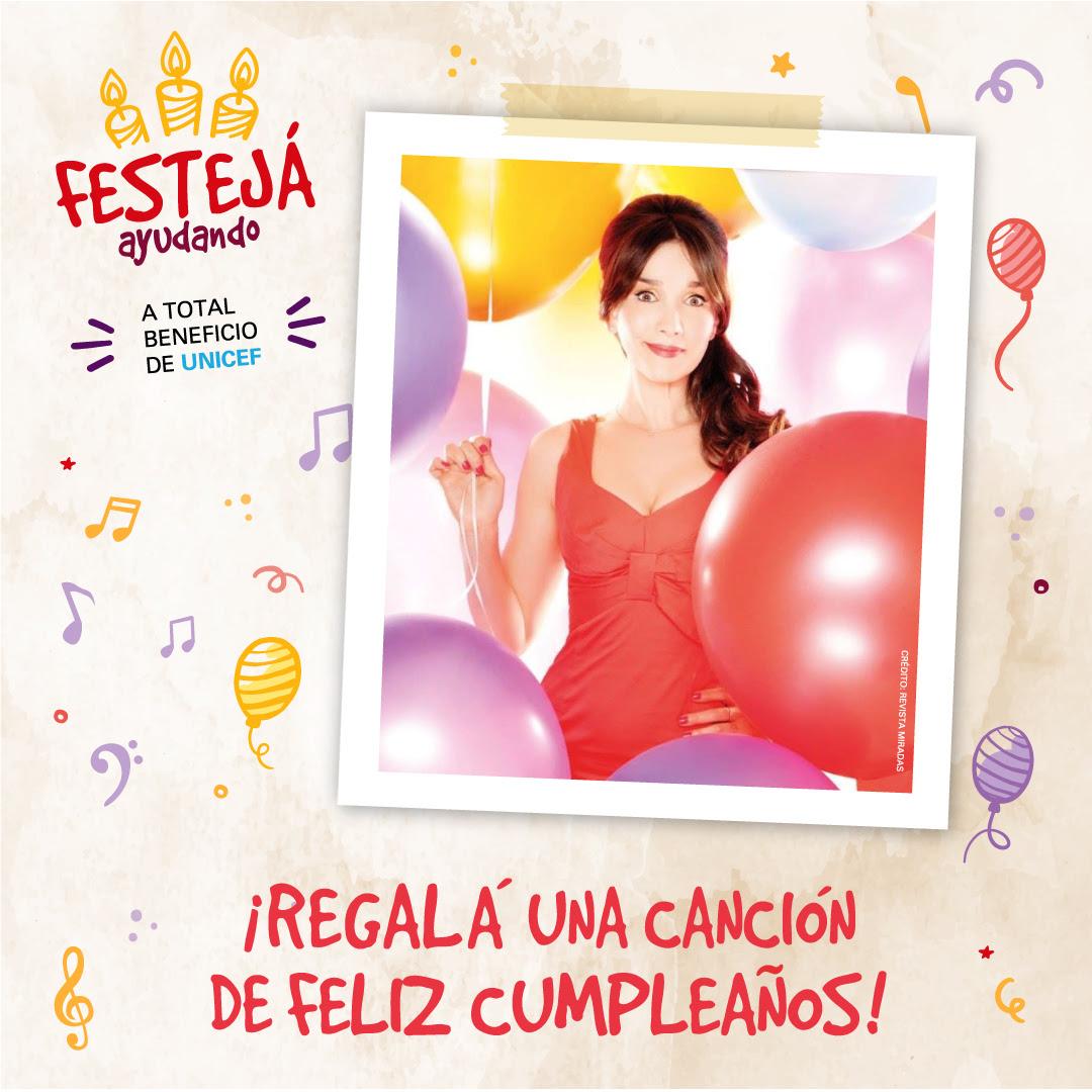 Unicef lanzó una iniciativa que permite enviar saludos de cumpleaños interpretados por artistas argentinos