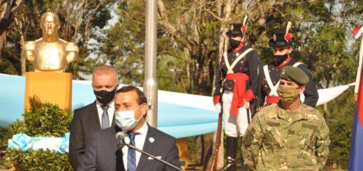 Herrera Ahuad presidió el acto oficial por el 170° Aniversario del Fallecimiento del General San Martín en San Ignacio