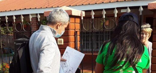 Rastreo de mayores de 60 años y vacunación antigripal en el barrio Don Pedro de Posadas