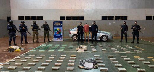 La Policía interceptó un cargamento con más de 280 kilos de marihuana y detuvo al conductor