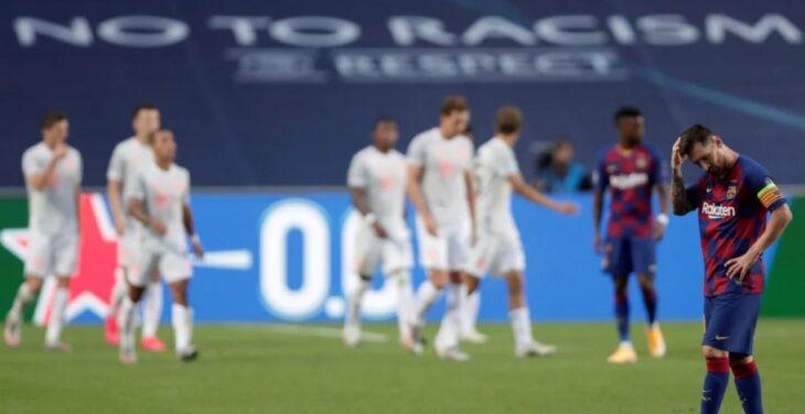 Goleada histórica: Bayern Munich aplastó 8-2 al Barcelona de Messi y avanzó a semifinales de la Champions League