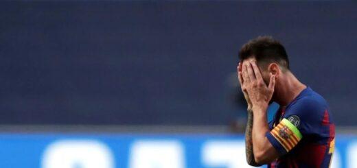 La desoladora foto de Messi en el vestuario luego de la goleada del Bayern Munich al Barcelona