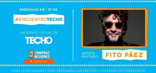 Fito Páez y TECHO en un show solidario el 5 de agosto…Colaborá adquiriendo aquí las entradas por Internet.