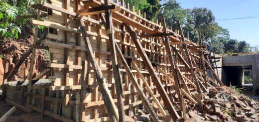 Vialidad construye una alcantarilla en el arroyo Ramón Ayala de Puerto Iguazú