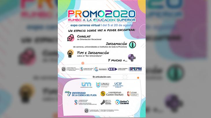 """El programa """"Promo 2020"""" del Ministerio de Educación continúa este lunes con las propuestas de la UNAU y la Cuenca del Plata"""