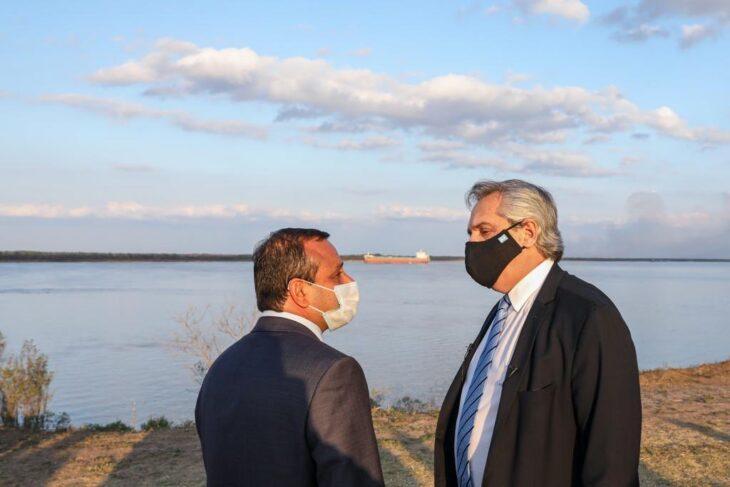Oscar Herrera Ahuad le agradeció a Alberto Fernández la inclusión de Misiones en el acuerdo federal de la hidrovía Paraguay-Paraná