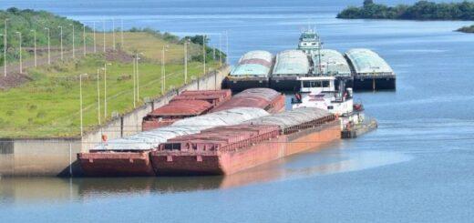 Tras la apertura de represas binacionales para aumentar el caudal del Paraná, Paraguay logra movilizar más de cien mil toneladas de soja