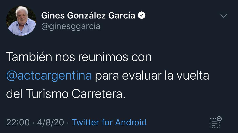 ジネス・ゴンサレス・ガルシアは、ロードツーリズムのリターンを評価していると確信しました