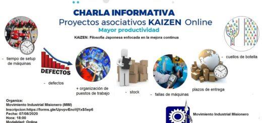 Primera disertación virtual del Movimiento Industrial Misionero: las líneas de financiamiento del INTI para que las PYMES se capaciten en  el Proyecto Asociativo Kaizen