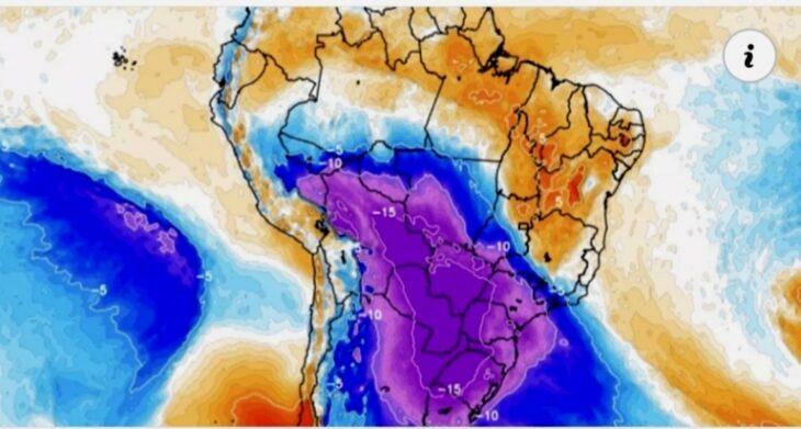 """Alertan sobre un """"evento histórico de frío y nieve"""" esta semana en países de América del Sur, que afectará gran parte de la Argentina, incluso Misiones"""