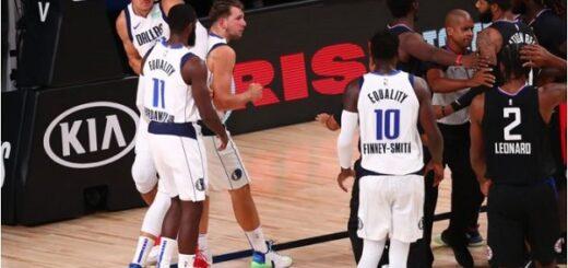 NBA: Luka Doncic recibió una brutal agresión en la eliminación de los Mavericks ante los Clippers