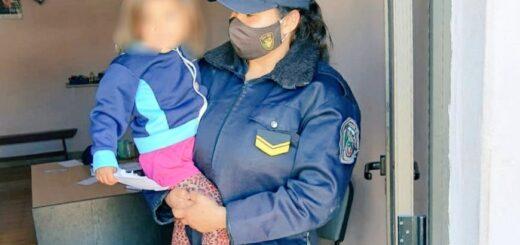 Una menor de tres años que estaba extraviada fue hallada por la Policía