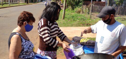 En Posadas entregaron más de 130 porciones de locro solidario