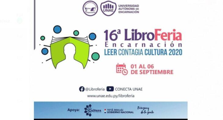 Con música, teatro, talleres y expositores nacionales e internacionales, se realizará la XVI Libroferia de Encarnación en formato virtual