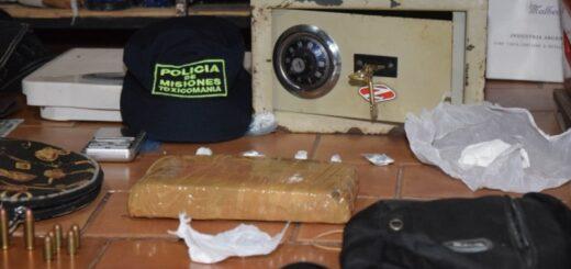"""La Policía desbarató un """"kiosko narco"""" en Posadas e incautó drogas, armas y dinero"""