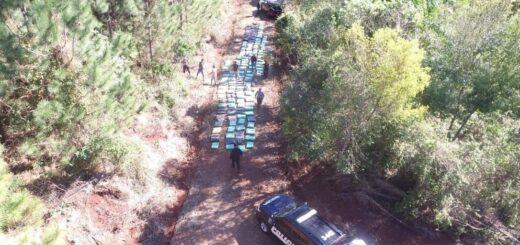 La Policía de Misiones secuestró más de 4.300 kilos de marihuana y hay un detenido