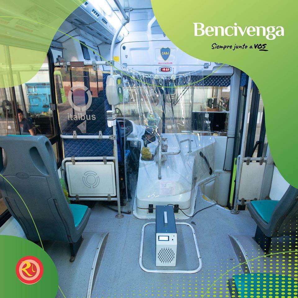 ポサダスの都市輸送:Bencivenga社はユニットの新しい殺菌方法を発表しました