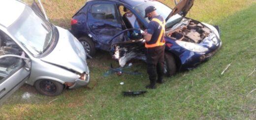 Dos personas resultaron heridas tras protagonizar un accidente de tránsito en San Vicente
