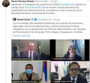 """Herrera Ahuad: """"Queremos una provincia libre de impuestos que nos permita competitividad en la región"""""""