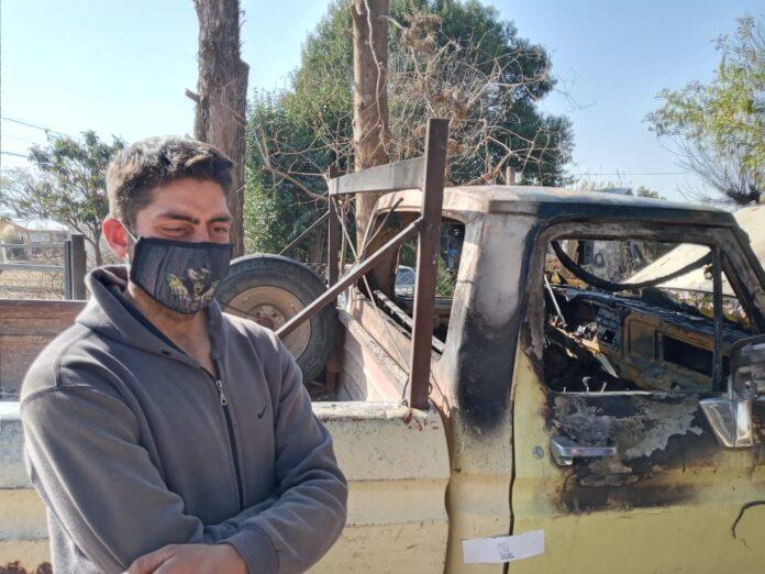 Le incendiaron la camioneta a un bombero porque sospechaban que tenía coronavirus