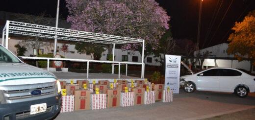 Gendarmería Nacional incautó casi 800 cartones de cigarrillos en Ituzaingó