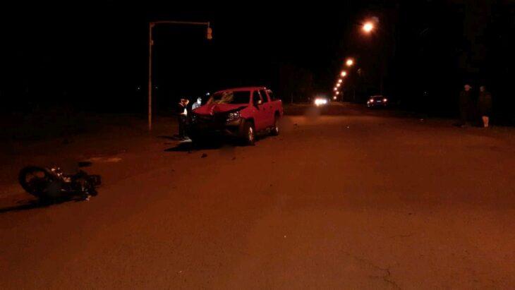 Oberá: falleció un motociclista tras un choque frontal