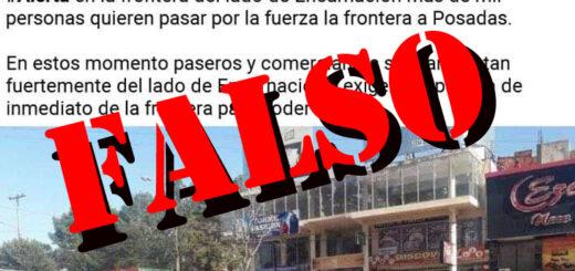 Es falso que paraguayos en Encarnación buscan pasar a la fuerza por el puente internacional