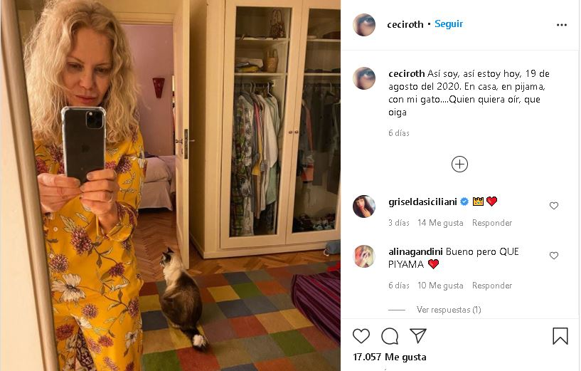 """Cecilia Roth contra la revista Gente por los retoques en su foto:""""Yo quiero ser como soy a la edad que tengo"""""""