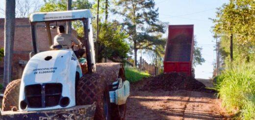 Eldorado: la Secretaría de Obras Públicas continúa su trabajo en diferentes frentes