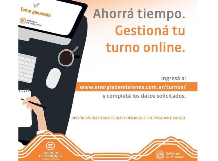 Energía de Misiones incorporó nuevas oficinas para solicitar turnos online