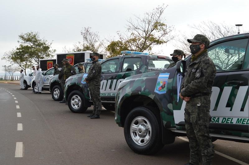 Herrera Ahuad completó la segunda etapa de la renovación de vehículos de la Policía de Misiones y sumó tres camionetas a la flamante división ambiental