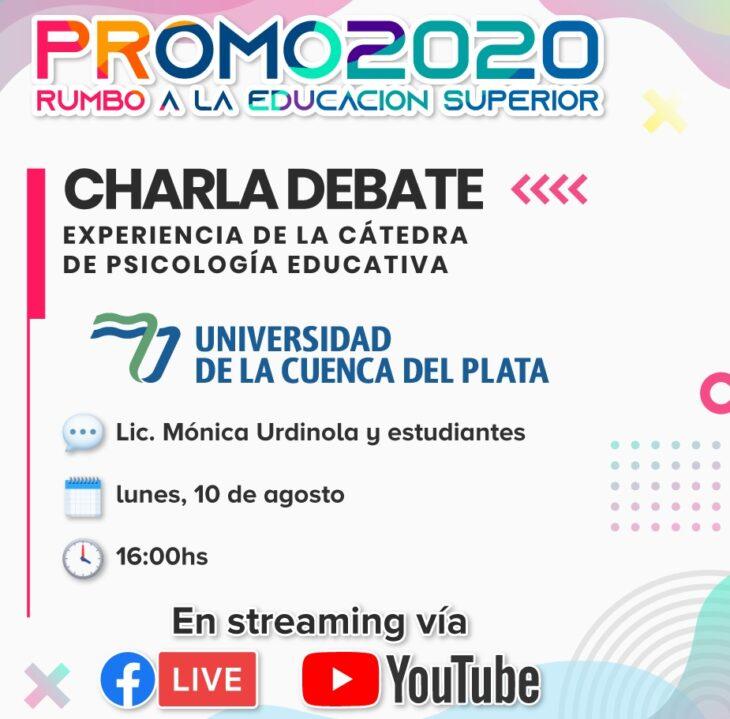El programa «Promo 2020» del Ministerio de Educación continúa este lunes con las propuestas de la UNAU y la Cuenca del Plata