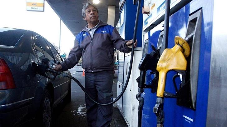YPF aumentó un 3,5% promedio sus combustibles