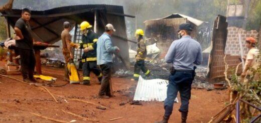 Concepción de la Sierra: una niña sufrió graves quemaduras en un incendio