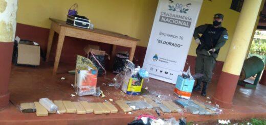 Operativo en Eldorado: llevaban más de 20 kilos de marihuana en tachos cargados al hombro